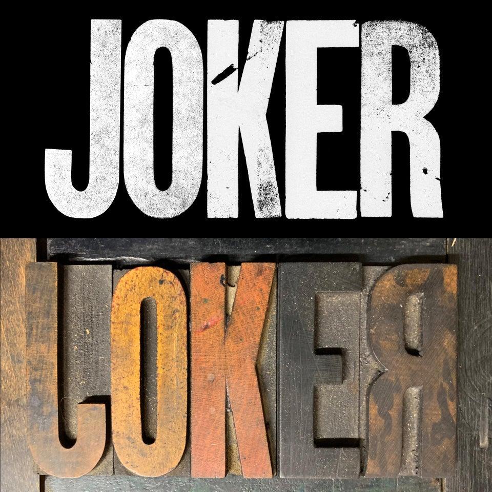 joker logotipo y madera
