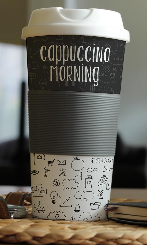 Maqueta de taza de café fotorrealista