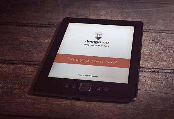 mockups en PSD gratis del lector de libros electrónicos fotorrealistas