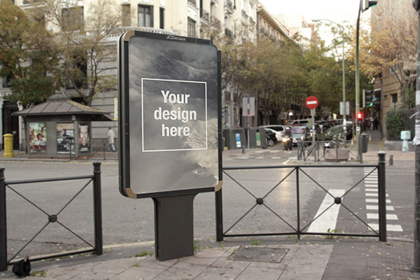 mockups en PSD gratis de publicidad exterior realista
