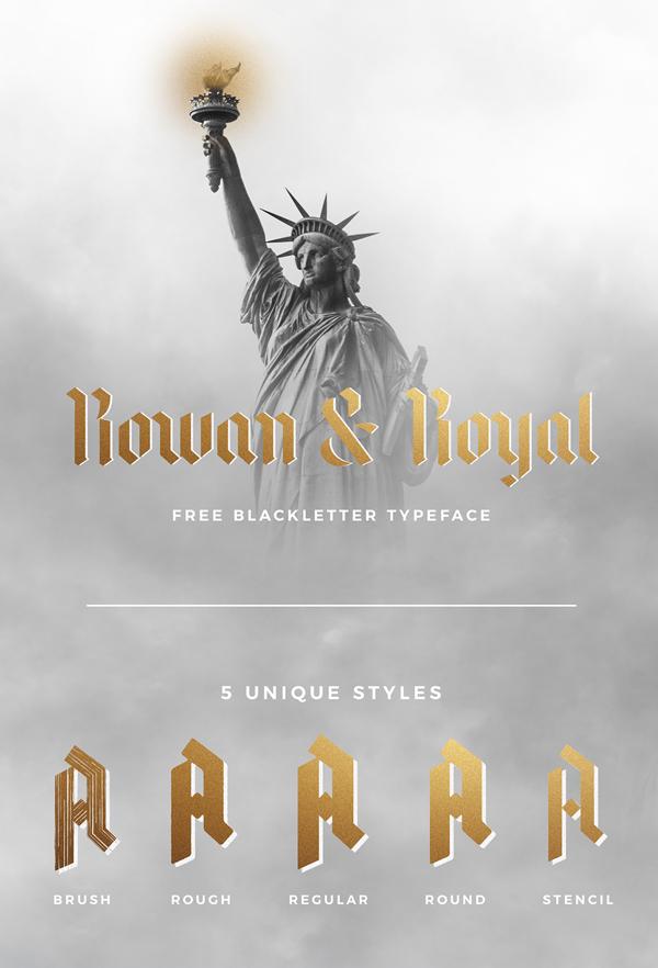 Descargar Rowan & Royal Vintage Font Gratis