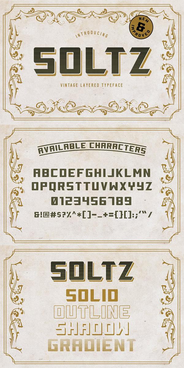 Descargar Soltz Vintage Vintage Font Gratis