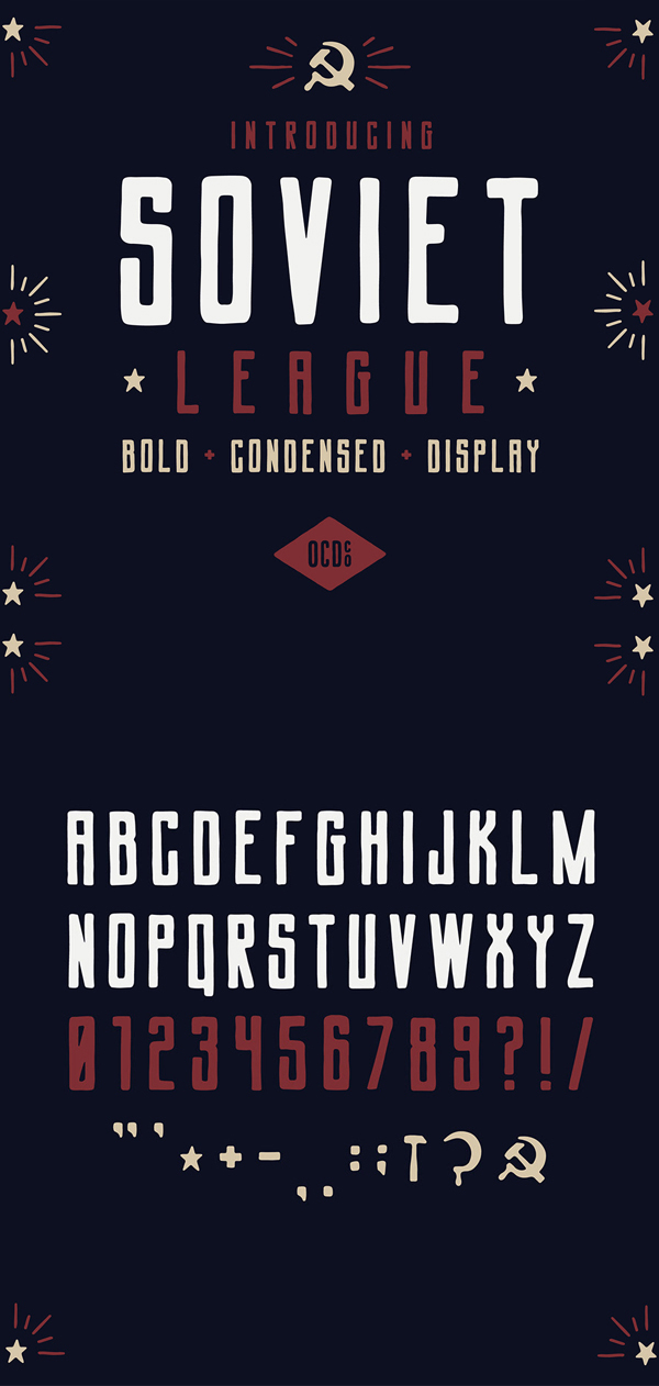 Soviet League Vintage Font GRATIS Descargar