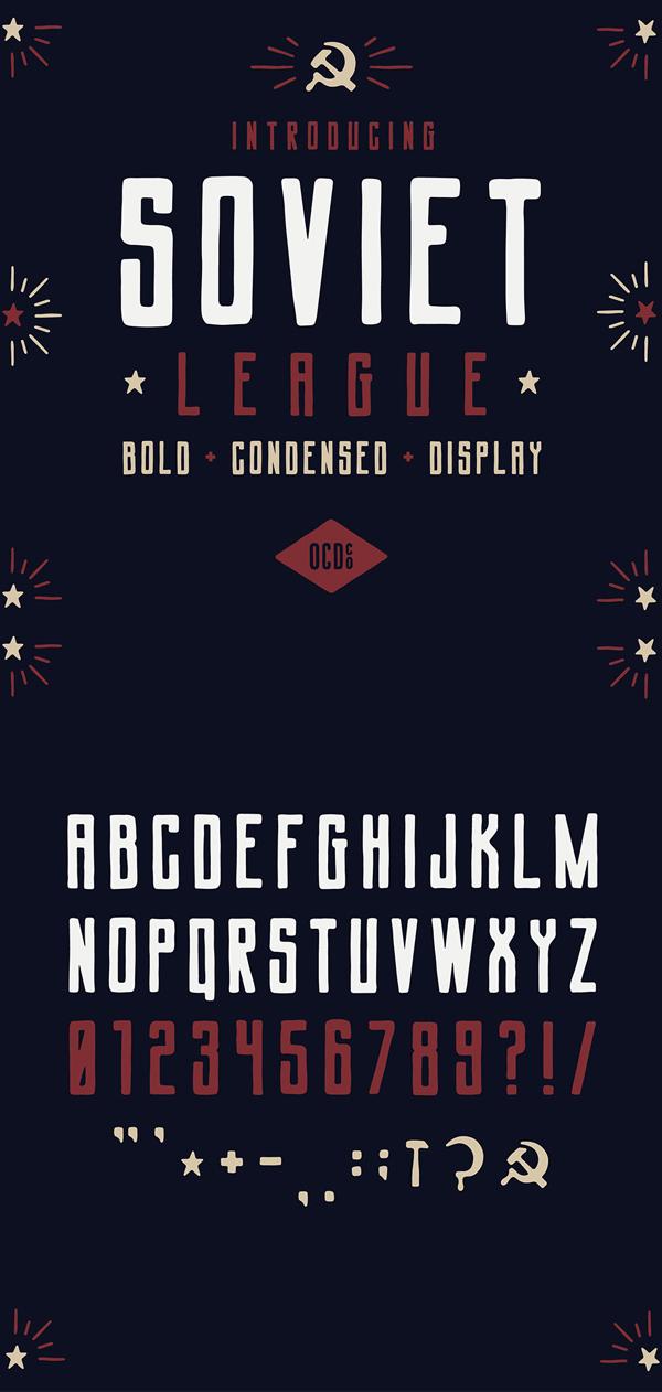 Soviet League Vintage Font GRATIS Descargar