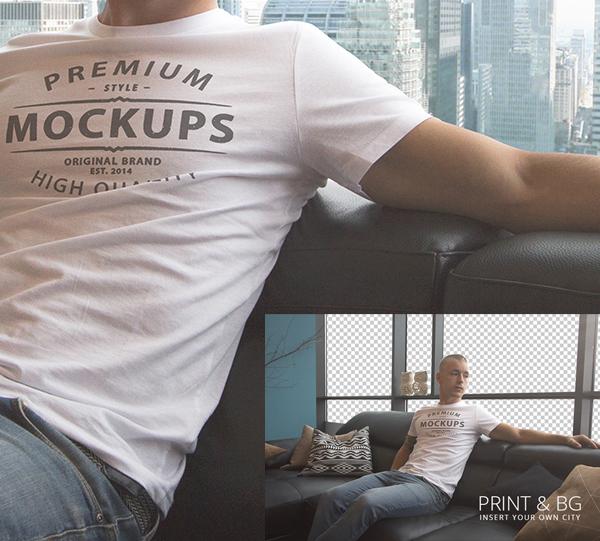 Camiseta PSD Mockup - Descarga gratuita