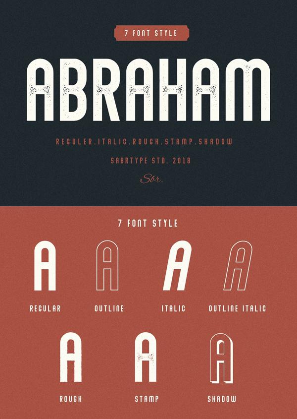 Descargar Abraham Vintage Font Gratis