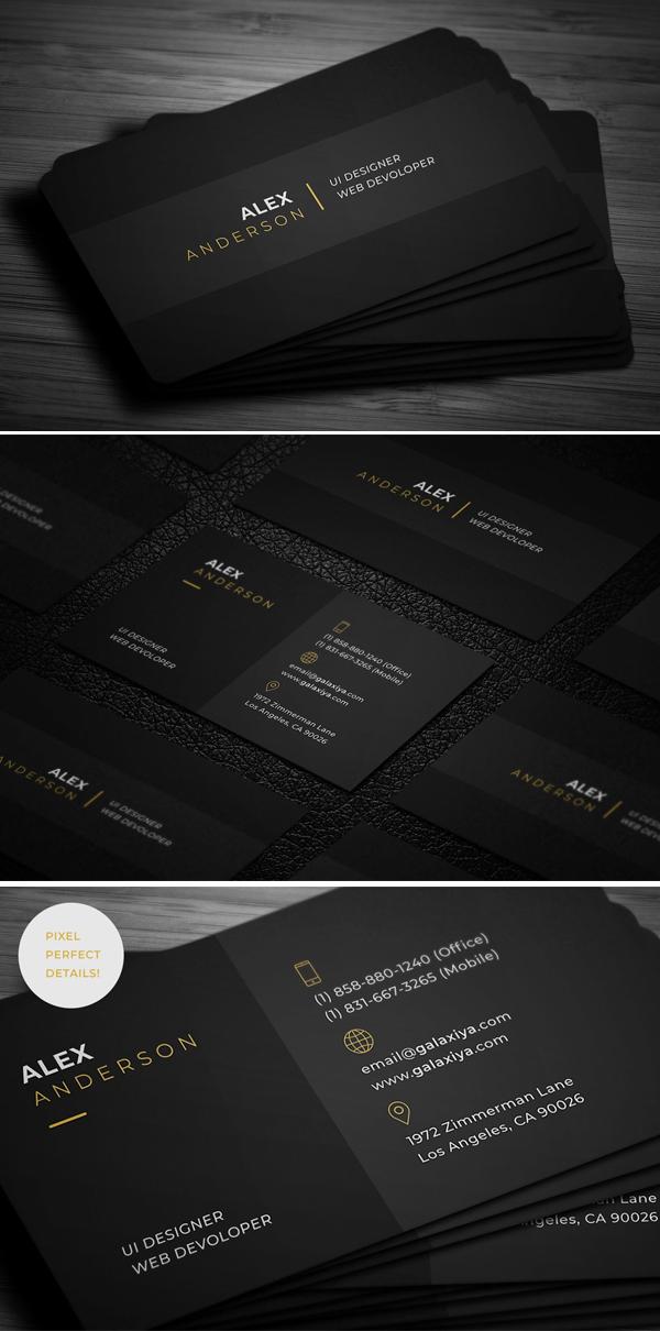 mockups de tarjetas de presentación creativas, Tarjeta de visita individual mínima