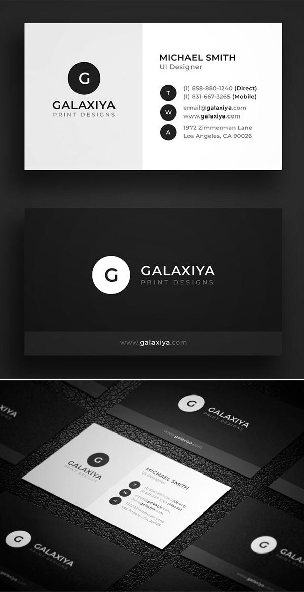 mockups de tarjetas de presentación creativas, corporativa mínima