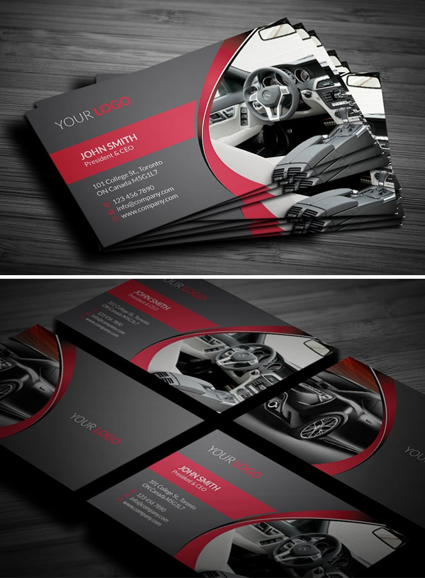 mockups de tarjetas de presentación creativas, Rent A Car