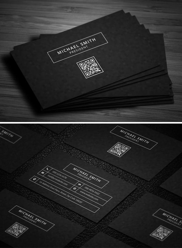 mockups de tarjetas de presentación creativas, moderna y elegante oscura
