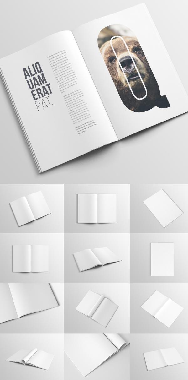 Revista A4 gratis / plantilla de maqueta de folleto