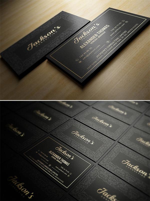 Impresionante diseño de tarjeta de visita