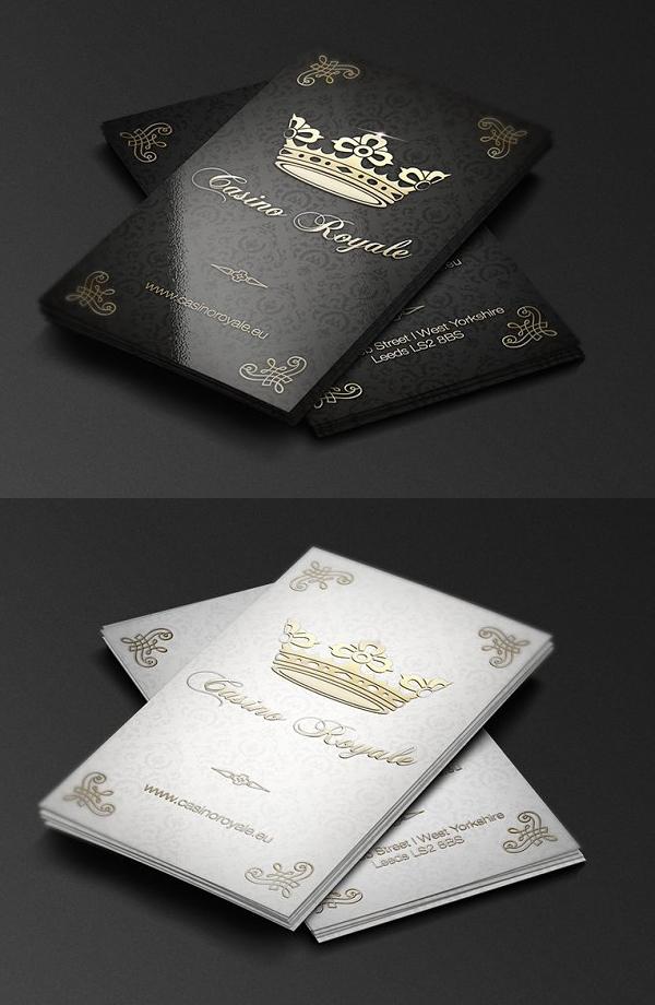 Plantilla de tarjeta de visita - casino real