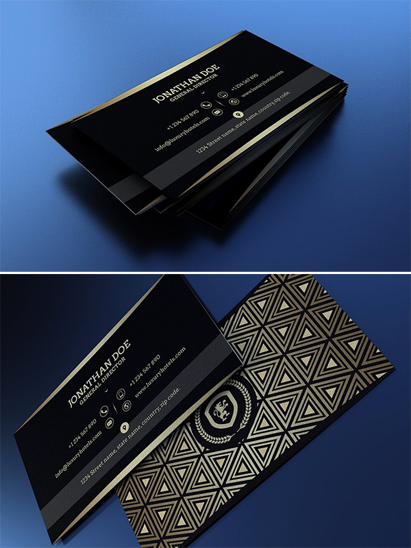 Plantilla de tarjeta de visita negra creativa