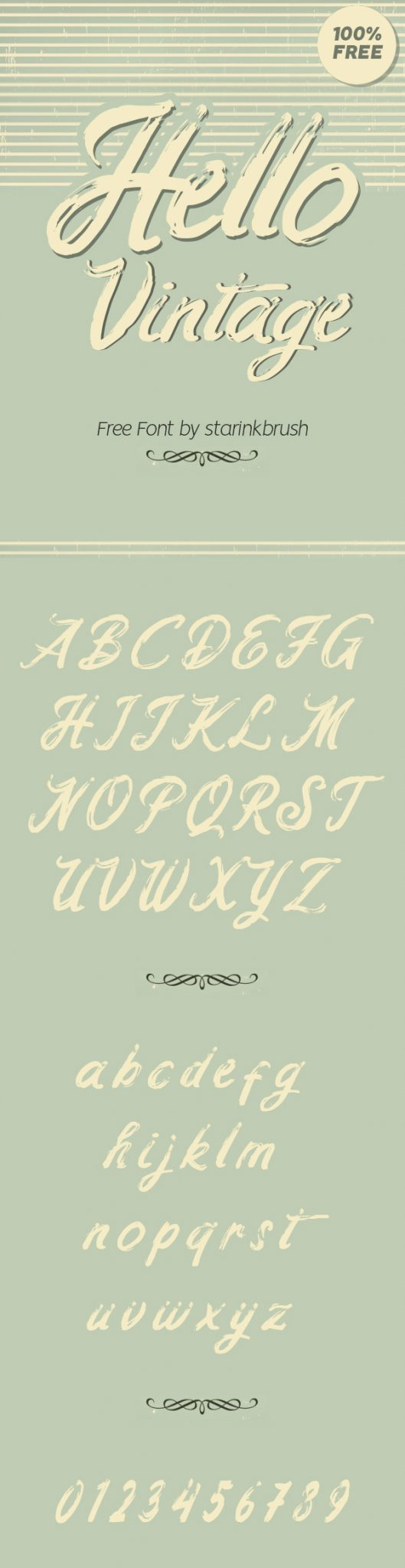 Descargar Hello Vintage Vintage Font gratis