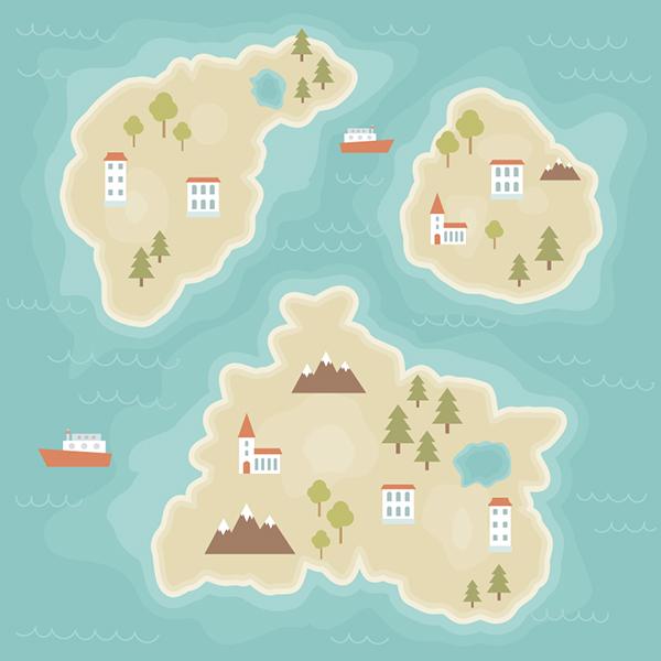 Cómo crear una ilustración de mapa de dibujos animados en Adobe Illustrator