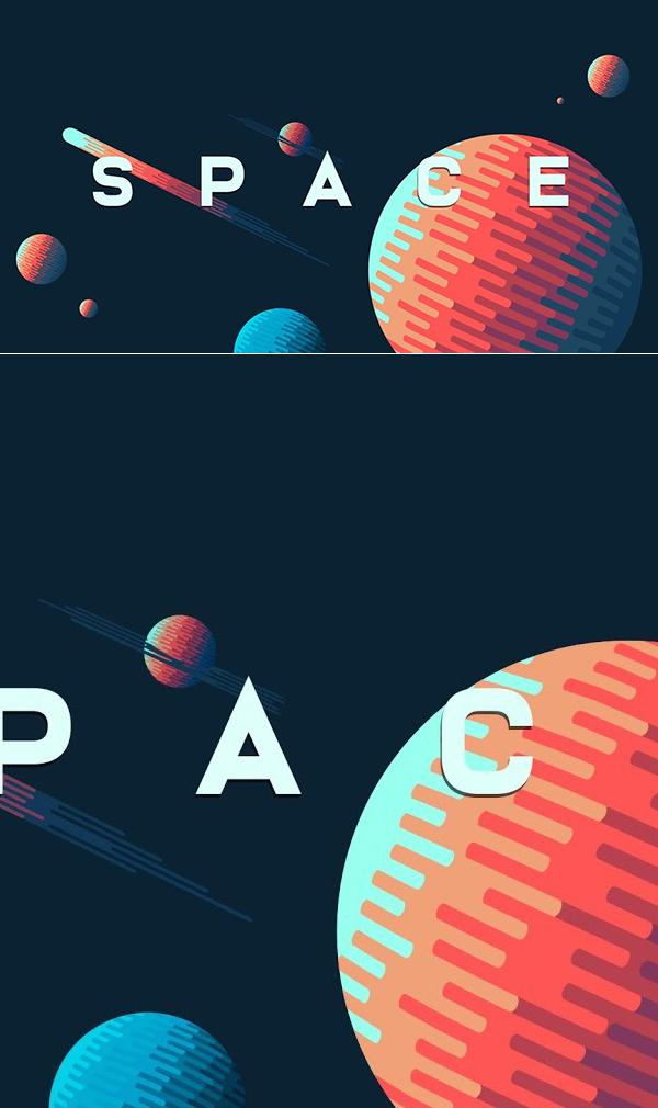 Cómo crear un fondo de ilustración de espacio en Adobe Illustrator Tutorial