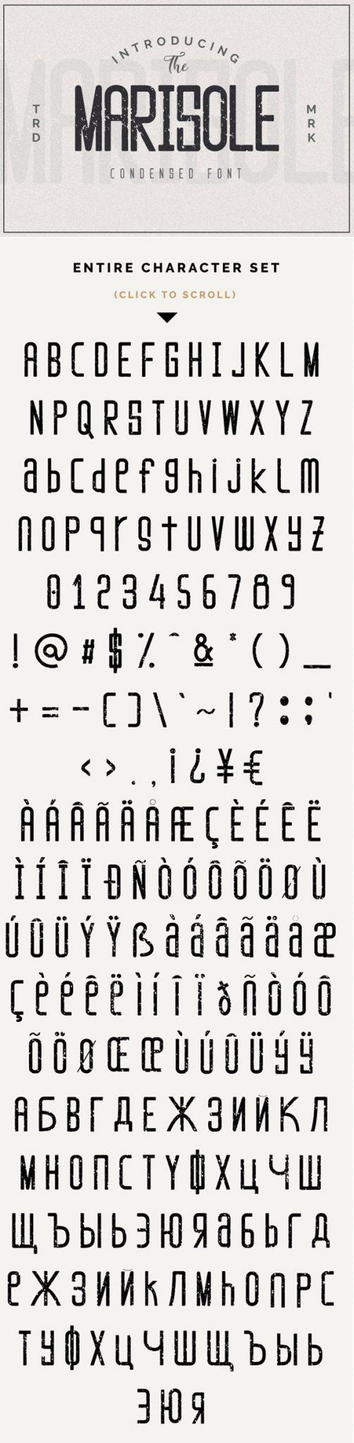 Descargar Marisole Vintage Textured Vintage Font Gratis