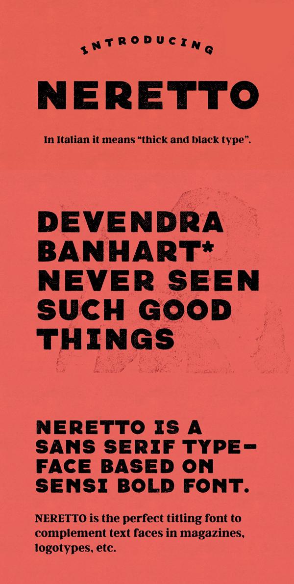 Fuente Neretto Sans Vintage Gratis