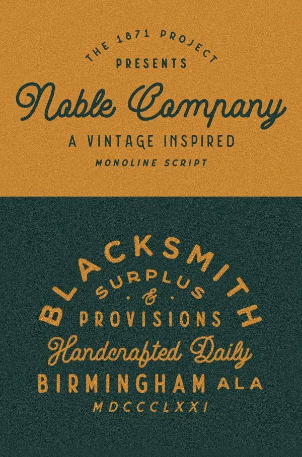 Noble Company Vintage Font GRATIS Descargar