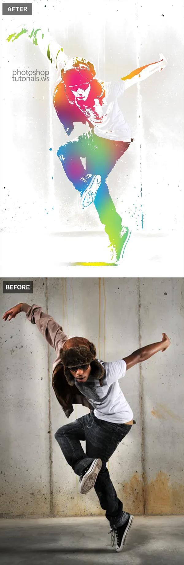 Cómo crear un efecto fotográfico Urban Ink en Photoshop Tutorial