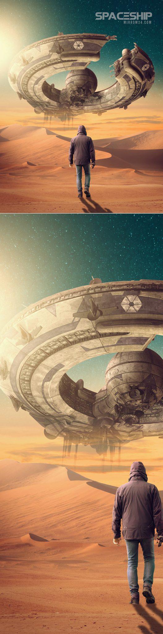 Crear una manipulación de fotos de fantasía y ciencia ficción en Adobe Photoshop