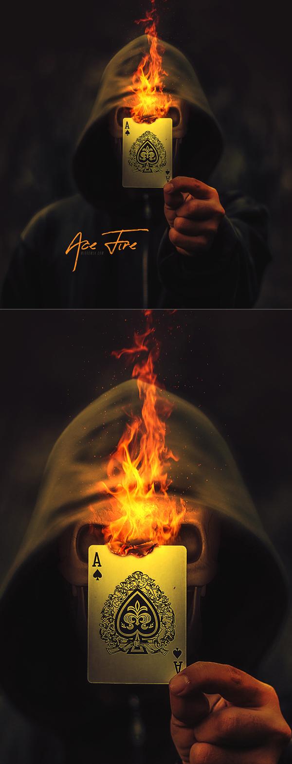 manipulación de fotos de Ace Fire