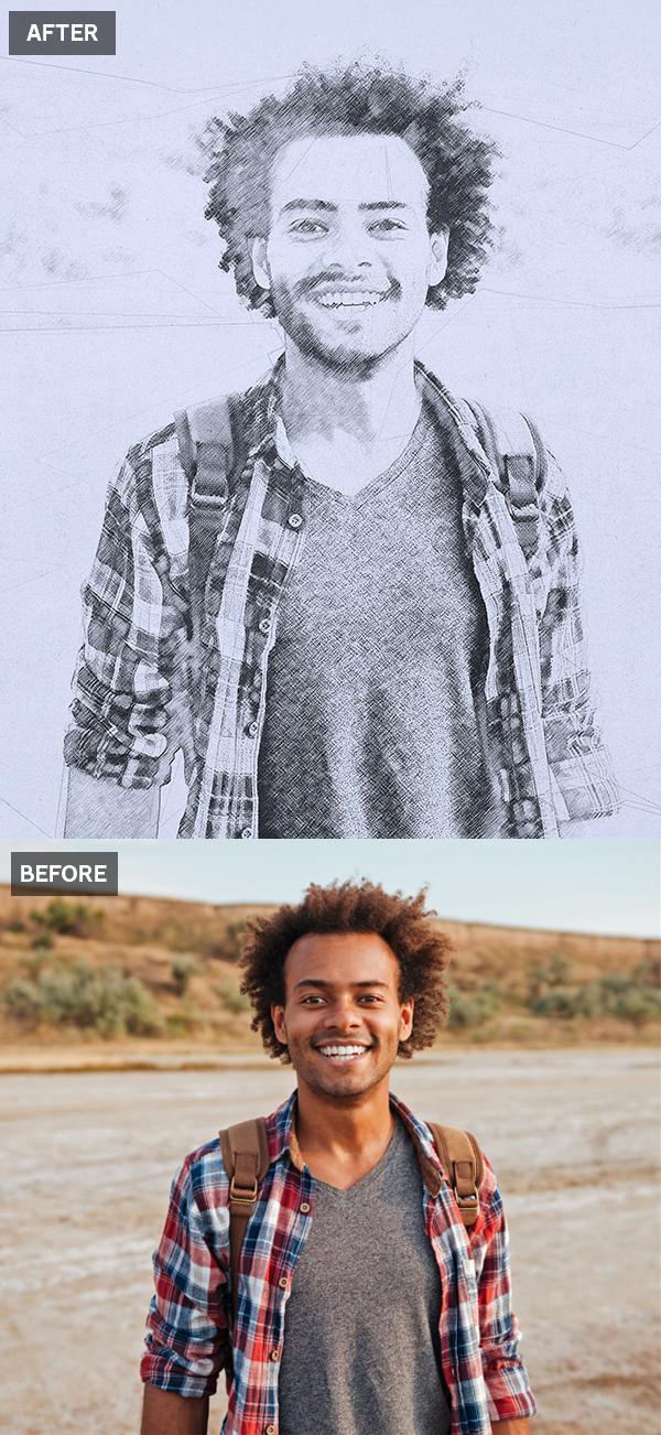 Cómo crear un efecto de dibujo de foto a lápiz en Photoshop