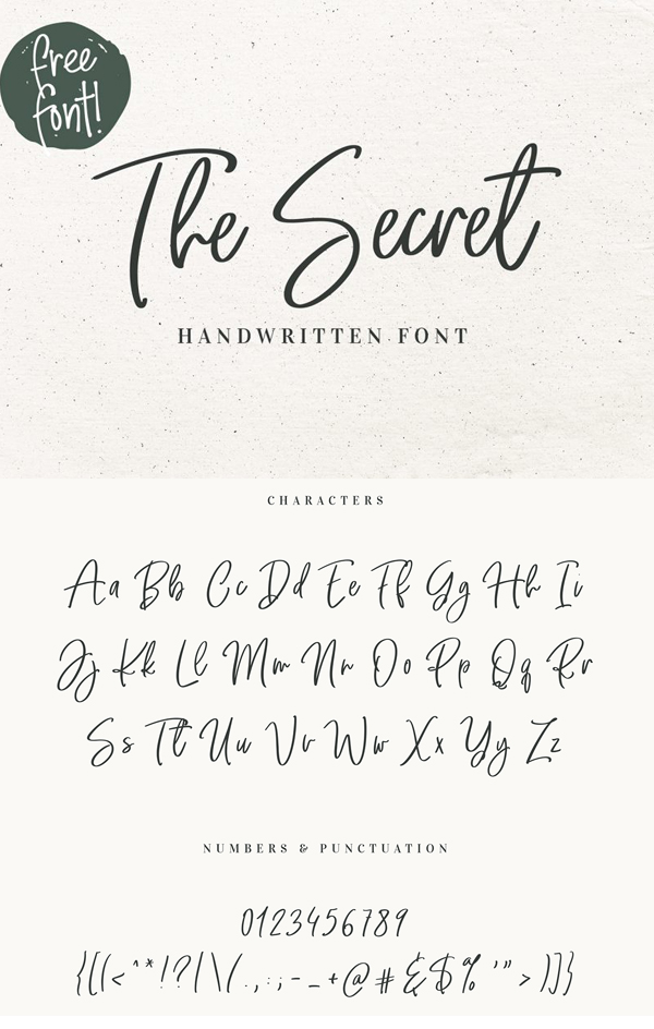 Secret Handwritten Script Vintage Font GRATIS Descargar