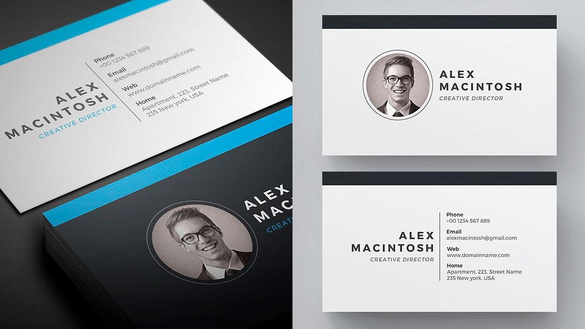 Tarjetas de presentación minimalistas