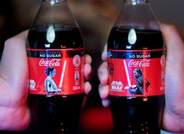 cocacola y star wars etiqueta