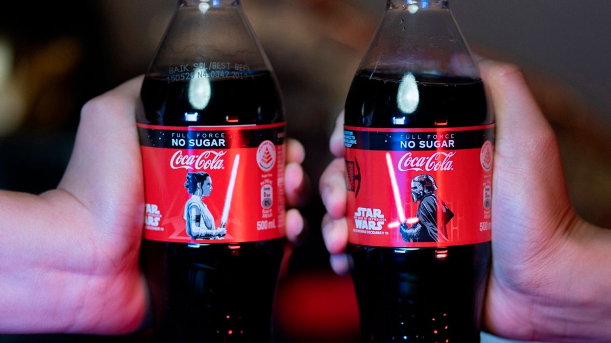 cocacola y star wars etiqueta