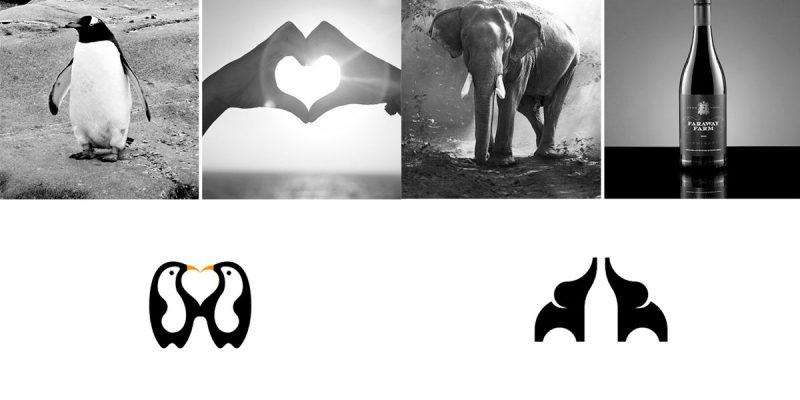 logotipos combinando dos elementos