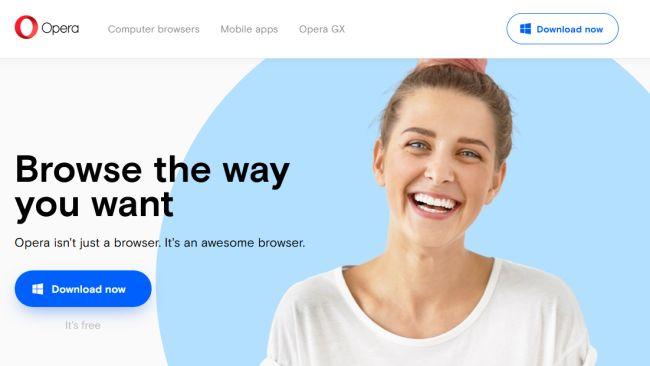 Opera, mejores navegadores 2020