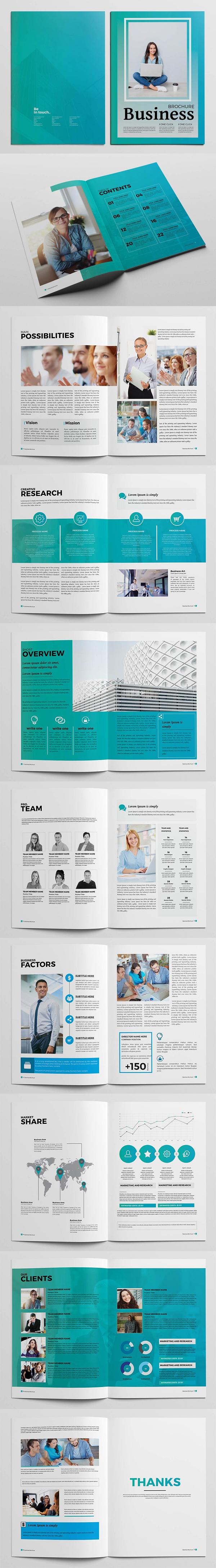 folletos profesionales elegante de negocio
