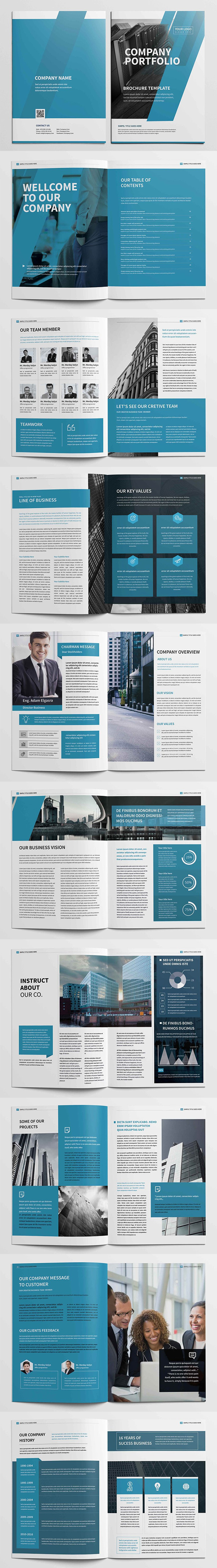 folletos profesionales de perfil de empresa