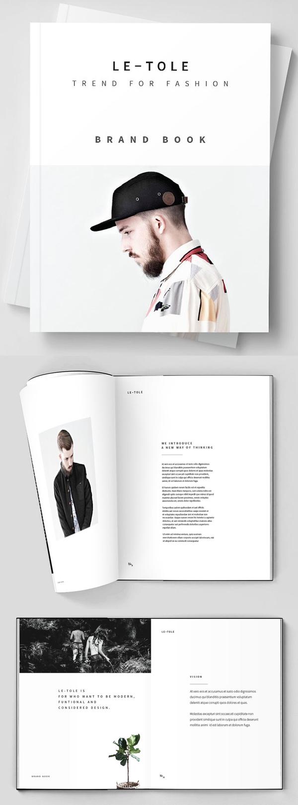 folletos profesionales - marca de moda