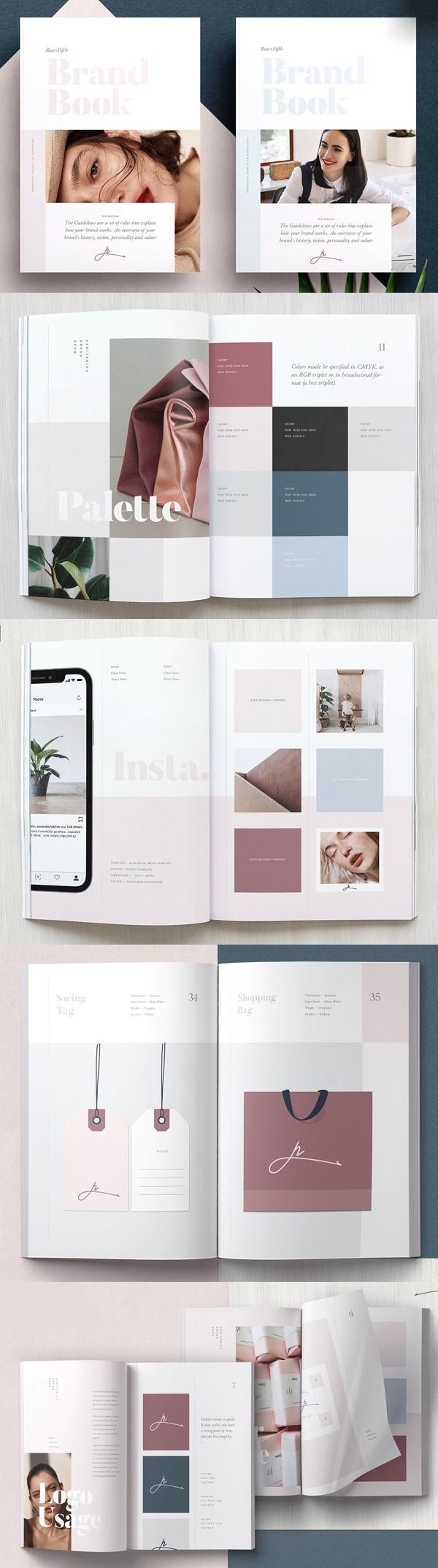 ROSE - folletos profesionales de pautas de marca