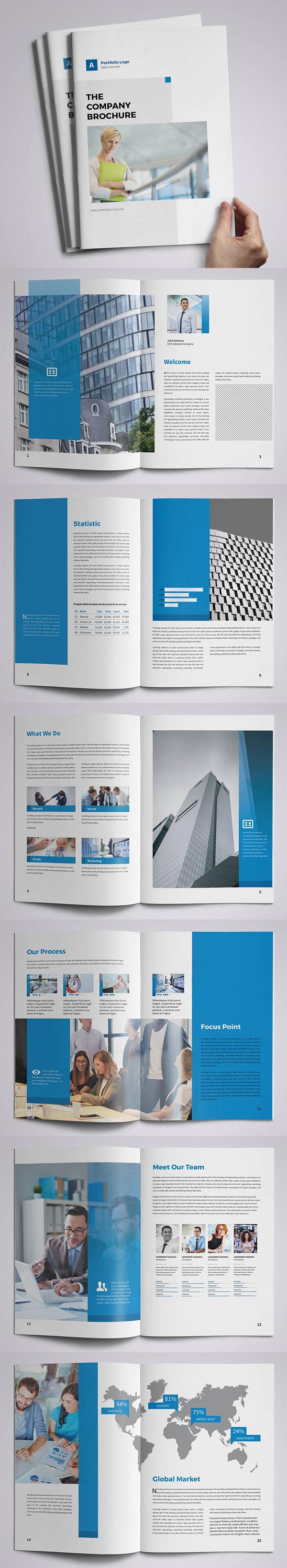 Diseño de plantilla de folleto de negocios corporativos