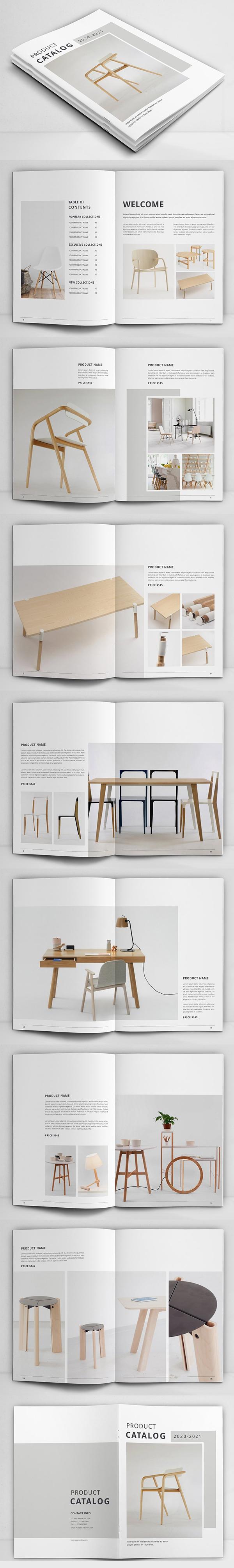 Plantilla de folleto del catálogo de productos