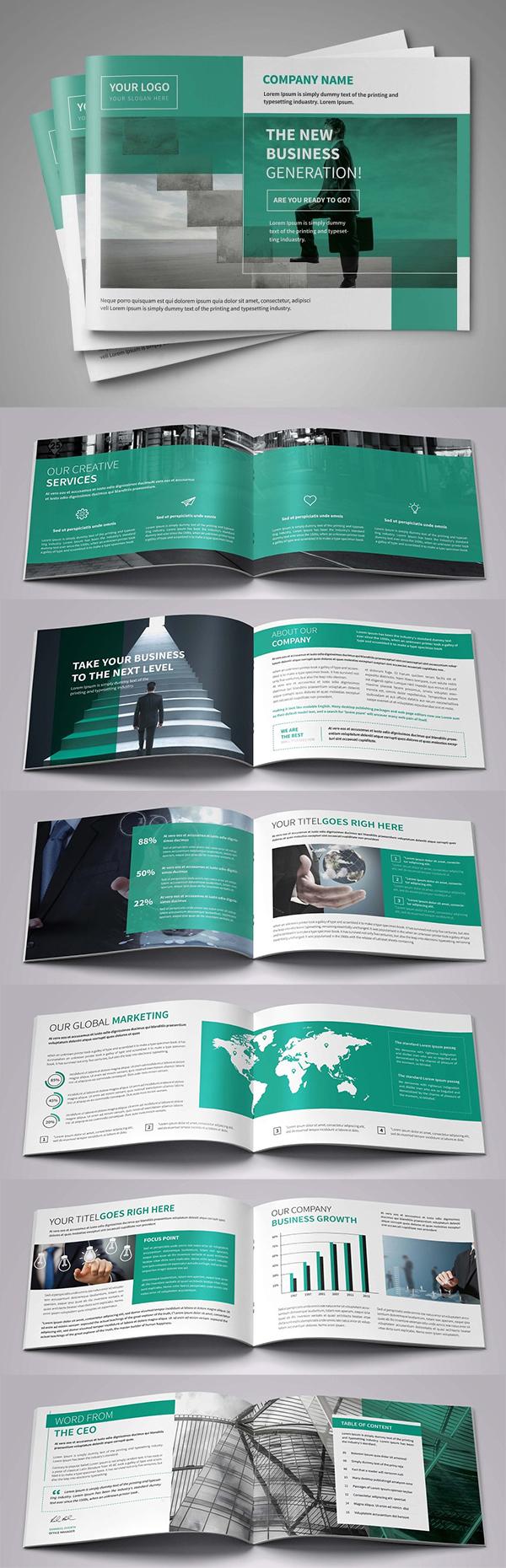 A5 Impresionante folletos profesionales comercial