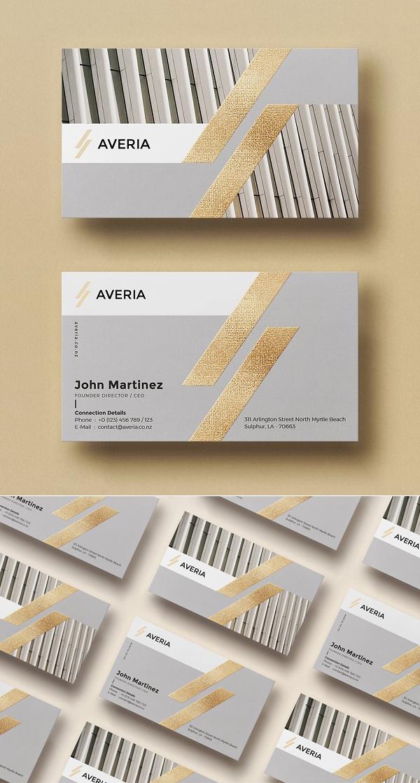 Tarjetas de presentación creativas, Plantilla de tarjeta de visita mínima