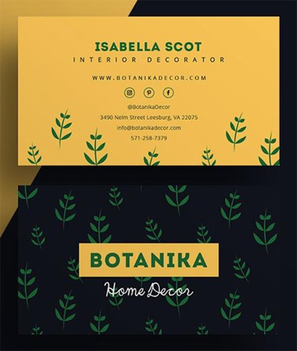 Botanika - Plantilla de tarjeta de visita