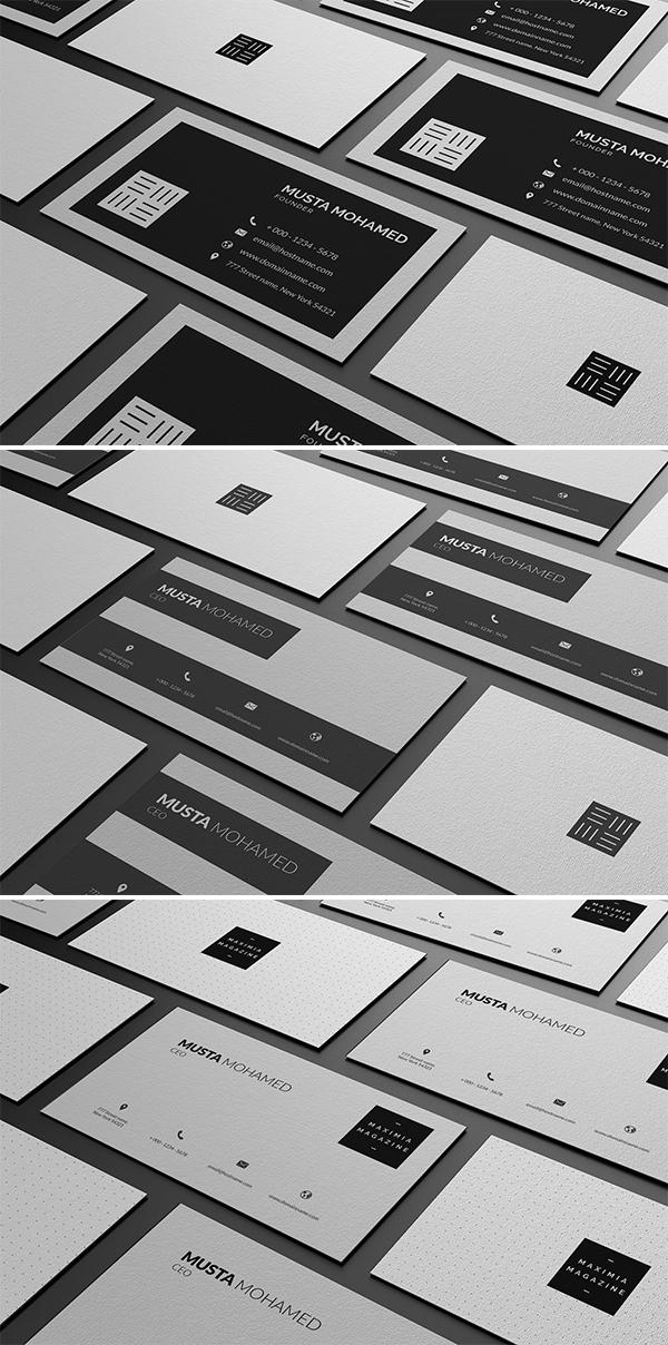 Plantilla de tarjetas de presentación minimalistas limpias