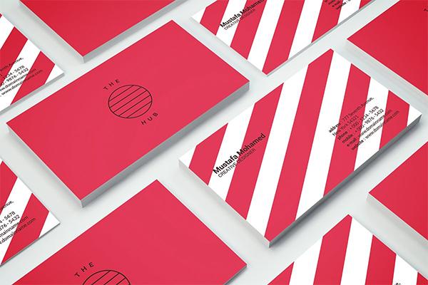 Plantilla de tarjeta de visita minimalista limpia