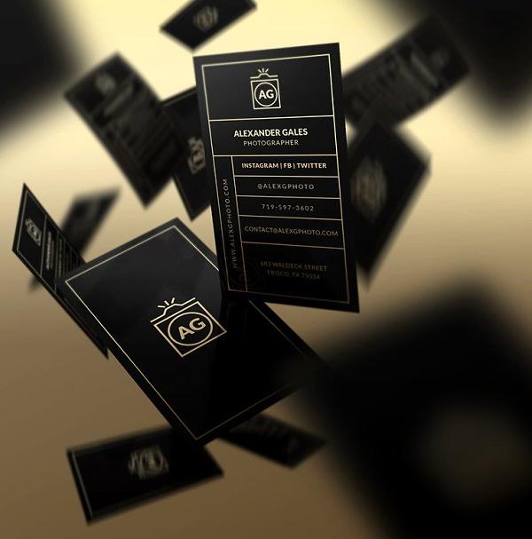 Elegant Gold - Plantilla de tarjeta de visita