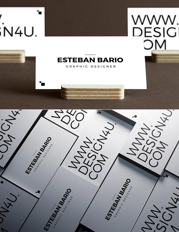 Plantilla de tarjeta de visita simple del sitio web