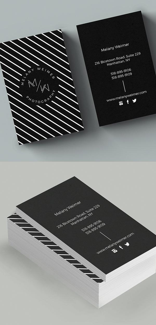 Plantilla de tarjeta de visita corporativa simple