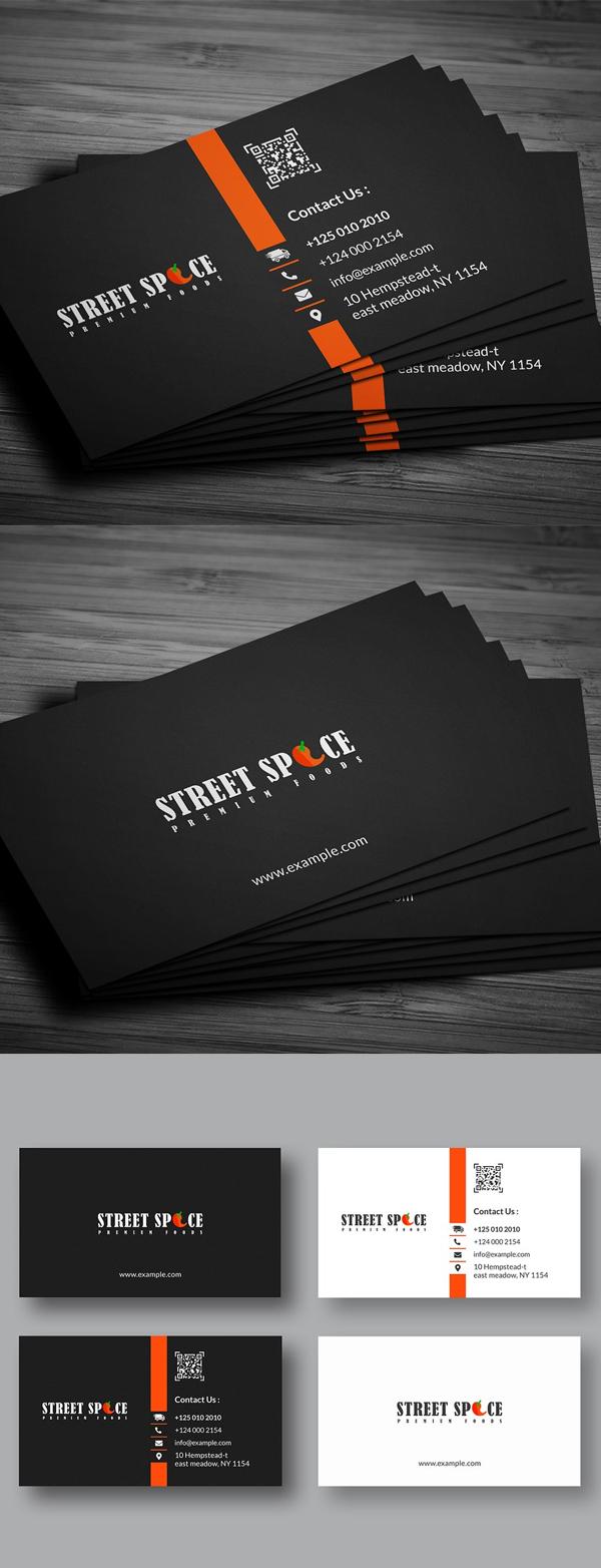 Plantilla de tarjeta de visita limpia y simple
