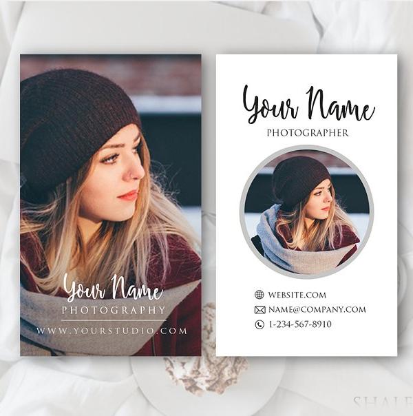 Plantilla de tarjeta de visita - fotografía